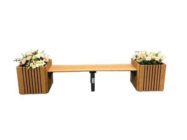 Bench With Planters Combo