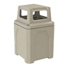 52 Gallon Square Receptacle with 4-way Top