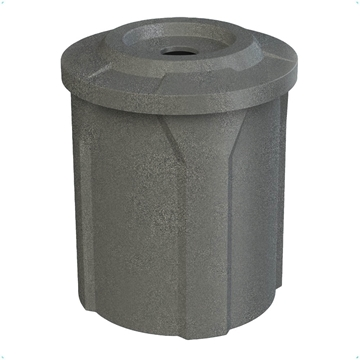 """42 Gallon Plastic Trash Receptacle with 4"""" Flat Recycling Lid"""