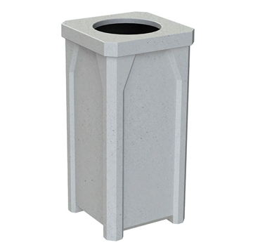 22 Gallon Square Receptacle with Flat Lid