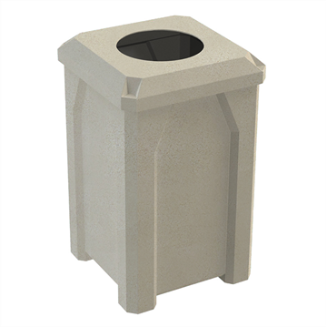 """32 Gallon Receptacle with 10"""" Recycle Lid"""