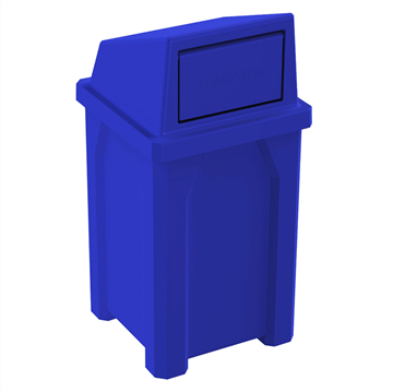 32 Gallon Receptacle with Liner and Dome Top