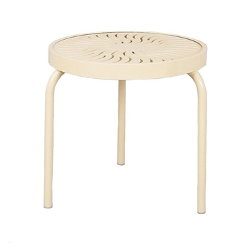 """19"""" Round Aluminum Stackable Side Table"""