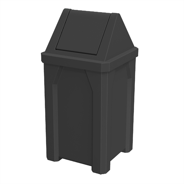 32 Gallon Receptacle with Swing Door Lid and Liner