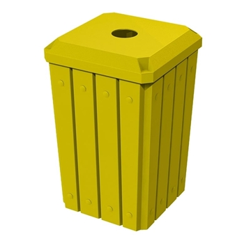 """Signature 32 Gallon Receptacle with 4"""" Recycle Lid"""