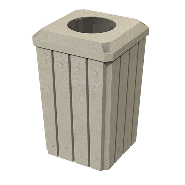 """Signature 32 Gallon Receptacle with 10"""" Recycle Lid"""