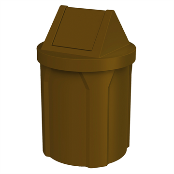 42 Gallon Receptacle with 2-Way Swing Lid